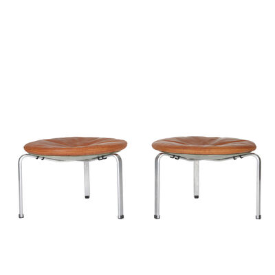 Poul Kjærholm, 'A pair of large PK 33 stools', 1953