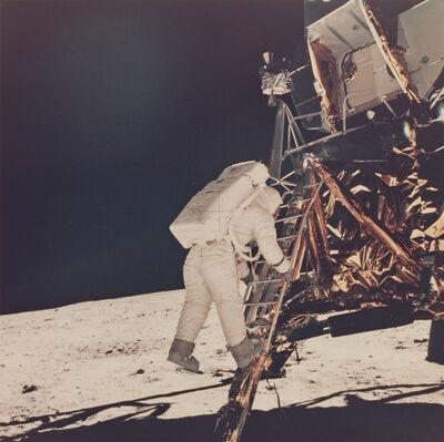 Neil Armstrong, 'Aldrin descends lunar module ladder', 1969