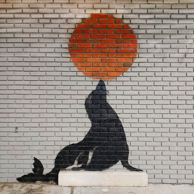 Banksy, 'Seal Wall', 2018