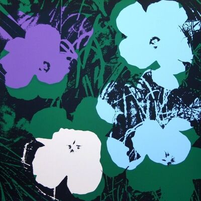 Andy Warhol, 'Flowers Black Blue - Sunday B. Morning (After)', 1970-1980