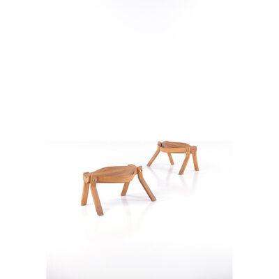Gunnar Aagaard Andersen, 'Model MilkingPaire Rustic stools', 1978