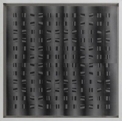 Ludwig Wilding, 'Kinetisches Streifenbild 12 x 12', 1986