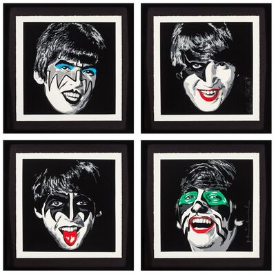 Mr. Brainwash, 'Kiss the Beatles, set of four', 2010