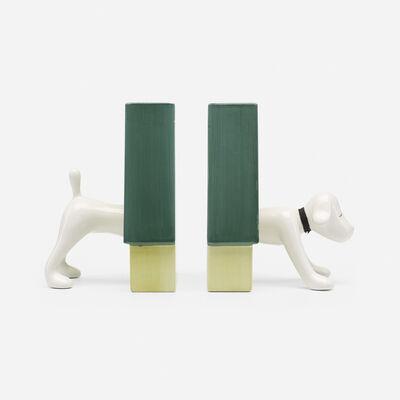 Yoshitomo Nara, 'Puppy bookends', 2002