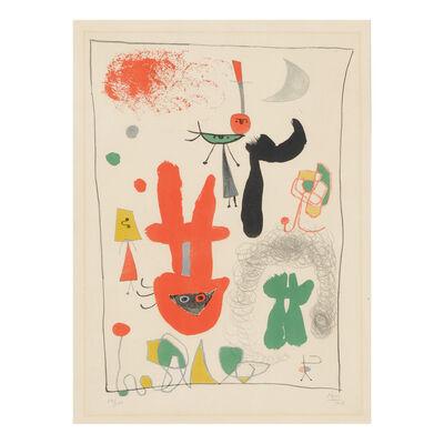 Joan Miró, 'ACROBATS IN THE NIGHT GARDEN, 1948', 1948