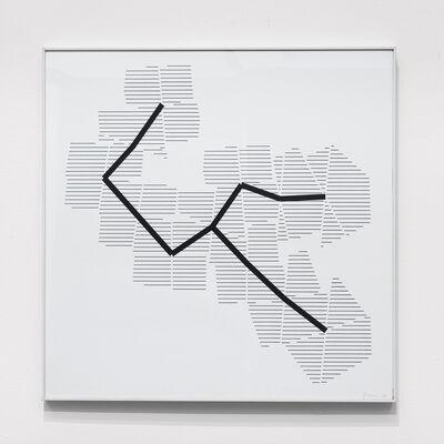 Manfred Mohr, 'P-395-D1', 1986
