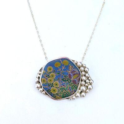 Melanie Sherman, 'Necklace | Vintage Japanese Ceramics Chard | Sterling Silver | 24″ Chain', 2020