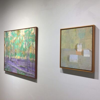 Found Objects: Paintings by Rodger Bechtold & Chris Liberti, installation view