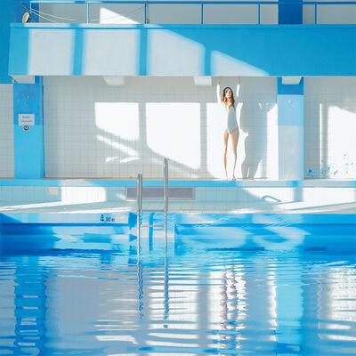 Maria Svarbova, 'Blue White Swimmer ', 2017