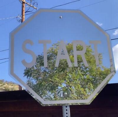 "Scott Froschauer, '""Start"" - Mirror Finish Polished Stainless Steel Street Art Sculpture', 2018"
