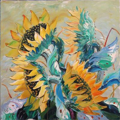 Zhang Shengzan 张胜赞, 'Sunflowers', 2009