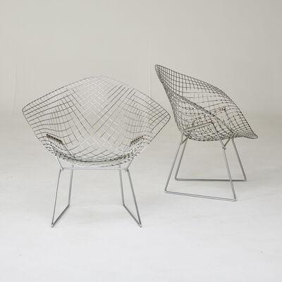 """Harry Bertoia, 'Pair of """"Diamond"""" chairs', 1970s/80s"""