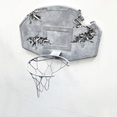 Daniel Arsham, 'Light Grey Eroded Basketball Hoop', 2019