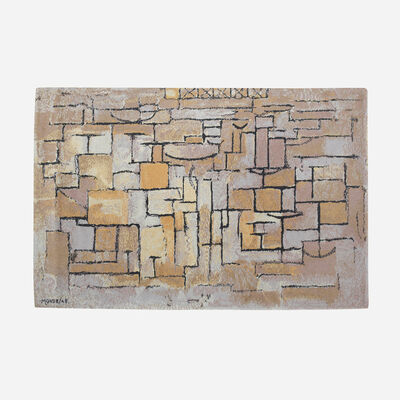 Piet Mondrian, 'Composition in Grey and Yellow carpet', 1913