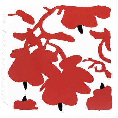 Donald Sultan, 'Lantern Flowers (Red)', 2017