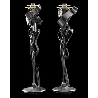 Albert Paley, 'Pair of Calyx candleholders, Rochester, NY', 2011