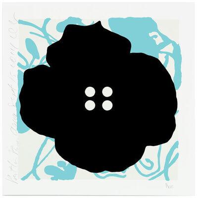 Donald Sultan, 'Button Flowers-Aqua', 2014