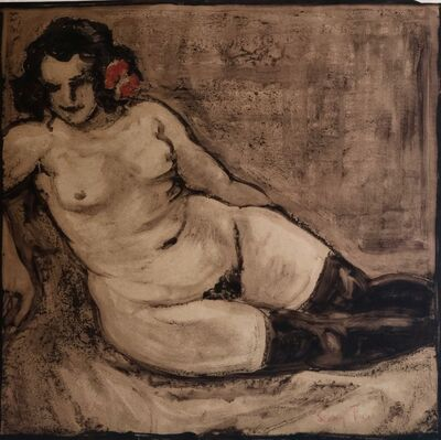 Léon Fauché, 'Nude with a Red Carnation (Hathilde).', ca. 1930