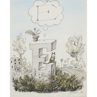 Saul Steinberg, 'Dream Of E', 1960