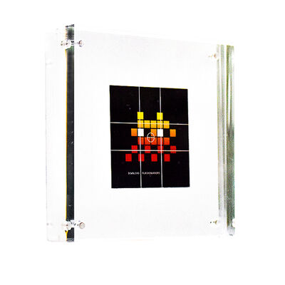 Invader, 'FLASH INVADERS STICKER (Framed)', ca. 2014