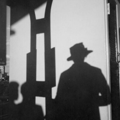 Vivian Maier, 'VM19XXW03655 – Self-Portrait, Chicago, n.d. Self-Portrait, Shadow with Hat', Printed 2017