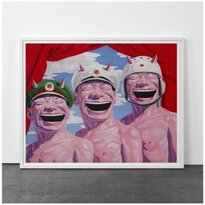 Yue Minjun, 'Armed Forces', 2009