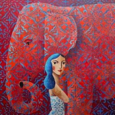 Didier Lourenço, 'Red friend', 2019