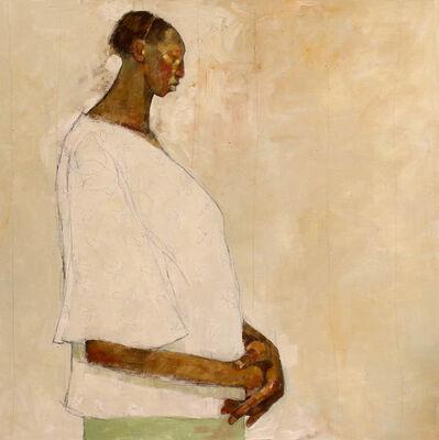 Olivia Mae Pendergast, 'Gachie - Profile on White ', 2018