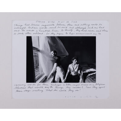 Duane Michals, 'Certain words must be said'