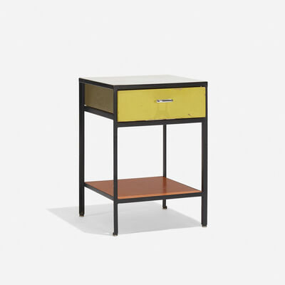 George Nelson & Associates, 'Steelframe Nightstand, Model 4053', 1950