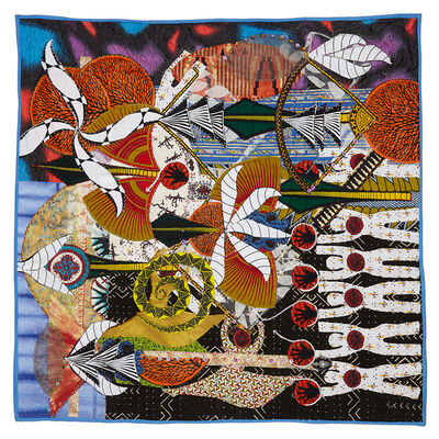Tina Williams Brewer, 'Energy to the West - Life Manifested in Stitches', 2020