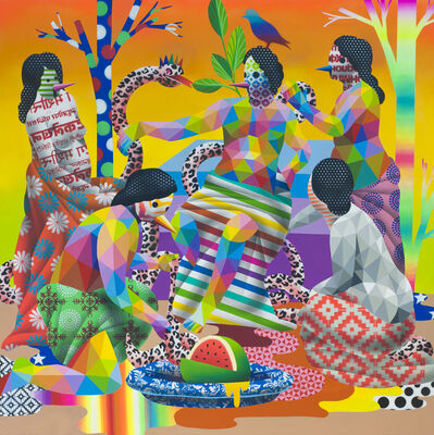 Okuda San Miguel, 'Forbidden Fruit Keepers', 2018