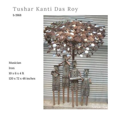 """Tushar Kanti Das Roy, 'Musician, Iron Sculpture by Contemporary Indian Artist """"In Stock""""', 2010-2020"""