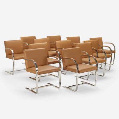 Ludwig Mies van der Rohe, 'Brno chairs, set of twelve', 1929