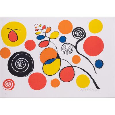 Alexander Calder, 'Spirals and flowers', circa 1970