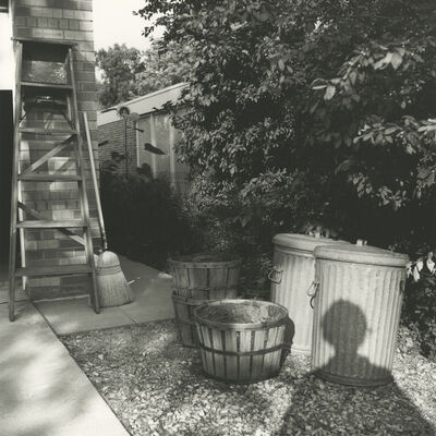 Vivian Maier, '0129824 – Self-Portrait, Chicago area, 1966 Self-Portrait, Shadow in Yard', 2017