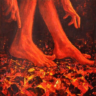 """Alexandr Akutsyionak, '""""Firewalking""""', 2018"""