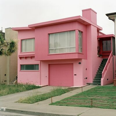 Jeff Brouws, 'Flamingo Fever, Daly City, California (Freshly Painted Houses) ', 1991
