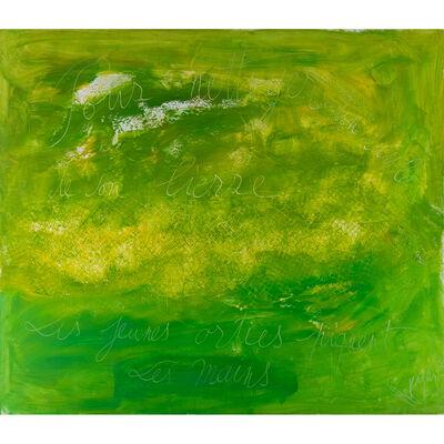 Jean Messagier, 'Pour nettoyer de son lierre, les jeunes orties piquent les mains', 1975