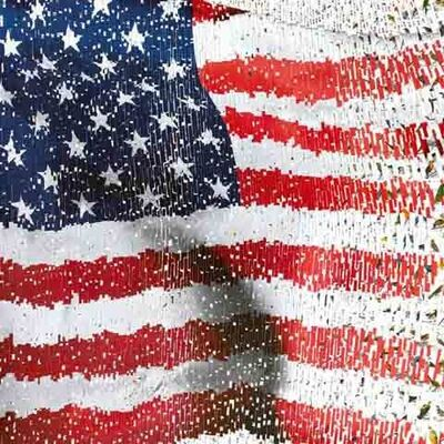 David Mach, 'US Flag'