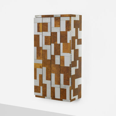 Paul Evans (1931-1987), 'wall-mounted Cityscape cabinet from the PE 400 series', c. 1975