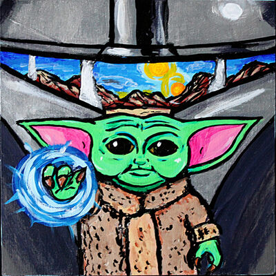 Marina Marchand, 'Mandalorian/Baby Yoda', 2020