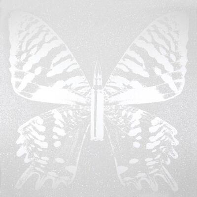 Rubem Robierb, 'Pearl Butterfly on White II'