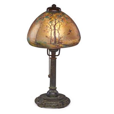 Handel, 'Boudoir lamp with woodland landscape, Meriden, CT', ca. 1922