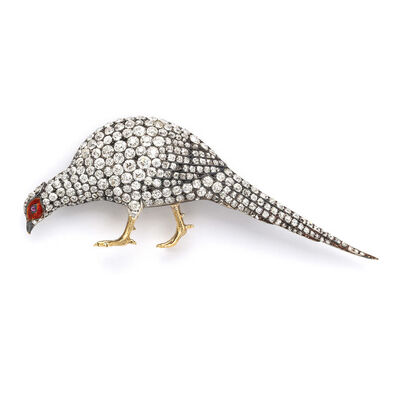 Unknown, 'Victorian Diamond Pheasant Brooch', ca. 1890