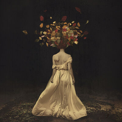 Brooke Shaden, 'The falling of autumn darkness'
