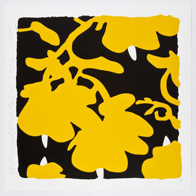 Donald Sultan, 'Lantern Flowers (Yellow and Black)', 2017