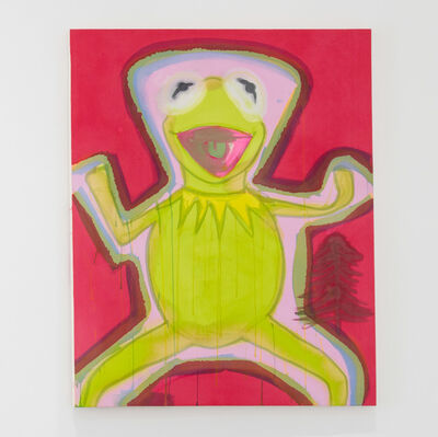 Liz Markus, 'Kermit with Pink Aura and Red Background', 2020
