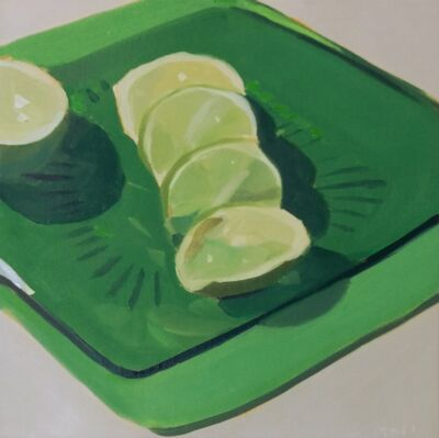 Yuri Tayshete, 'Sliced Lime on a Green Plate', 2019