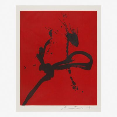 Robert Motherwell, 'Gesture IV (State I)', 1977